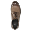 Brown Leather Shoes bata, brown , 826-4620 - 26