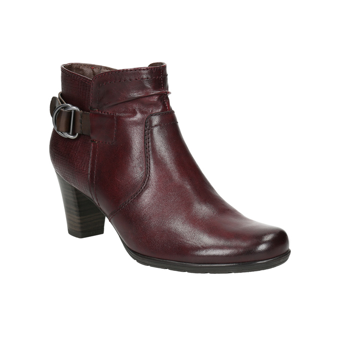 H-width ankle boots bata, red , 696-5625 - 13