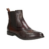 Ladies' leather brogue Chelsea boots bata, brown , 596-4683 - 13