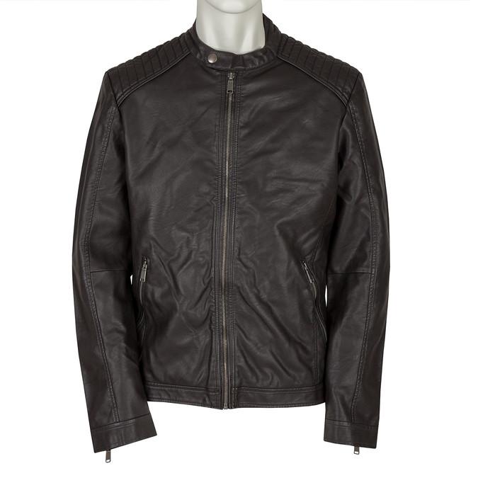 Men's Imitation Leather Jacket bata, brown , 971-4103 - 13