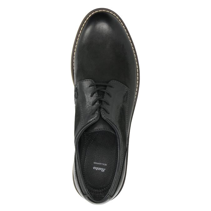 Men's Leather Derby Shoes bata, black , 826-6620 - 26