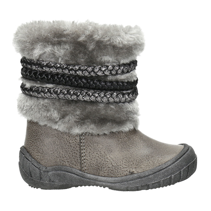 Children's Winter Boots with Fleece bubblegummer, gray , 191-2620 - 15
