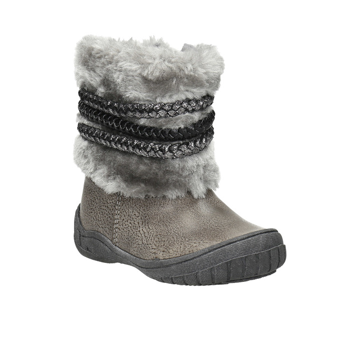 Children's Winter Boots with Fleece bubblegummer, gray , 191-2620 - 13