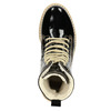 Patent leather ankle boots with massive sole weinbrenner, black , 598-6604 - 15