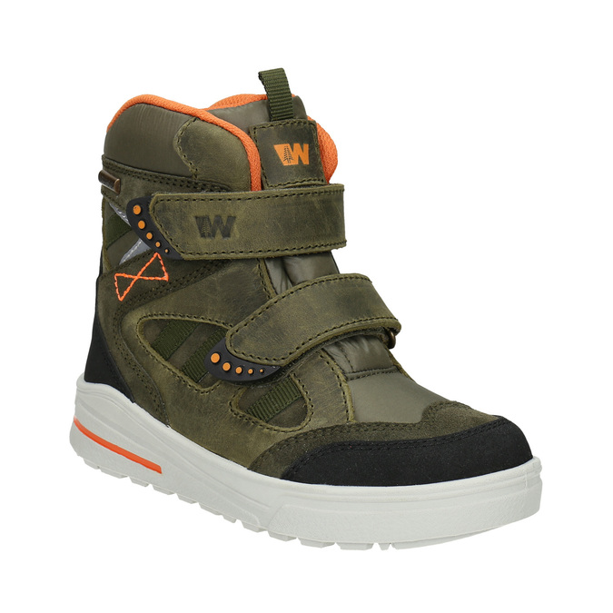 Children's Leather Winter Boots weinbrenner-junior, green, 493-7612 - 13