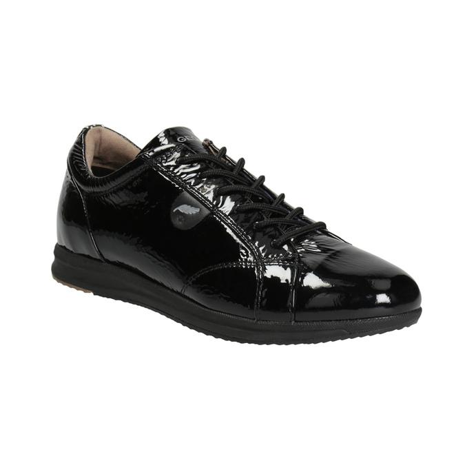 Black Leather Sneakers geox, black , 528-6083 - 13