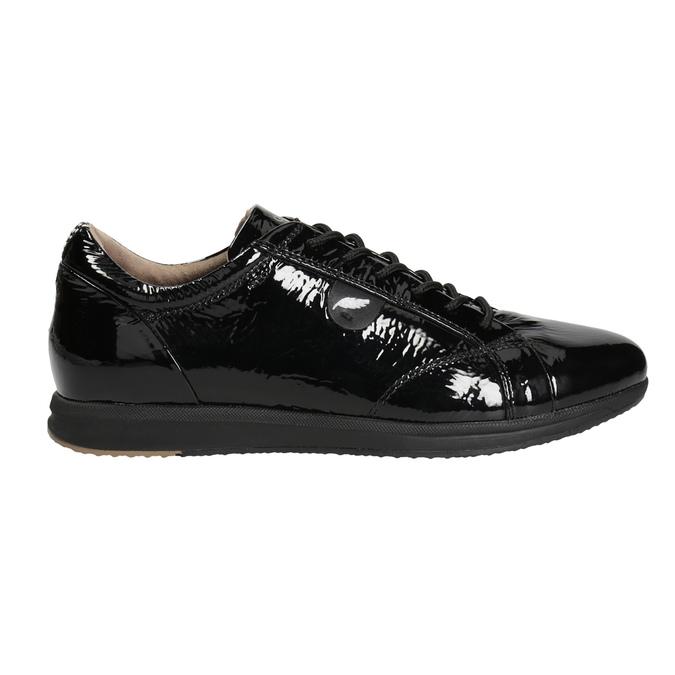 Black Leather Sneakers geox, black , 528-6083 - 26