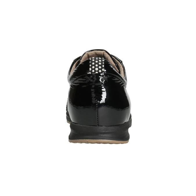 Black Leather Sneakers geox, black , 528-6083 - 16