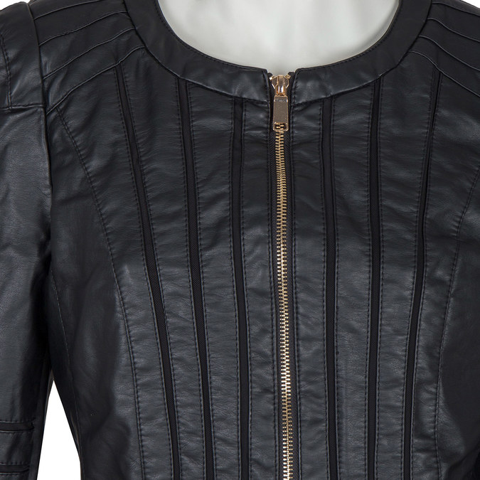 Ladies' Jacket with Gold Accents bata, black , 971-6204 - 16