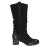 Ladies' Leather High Boots bata, black , 696-6649 - 15