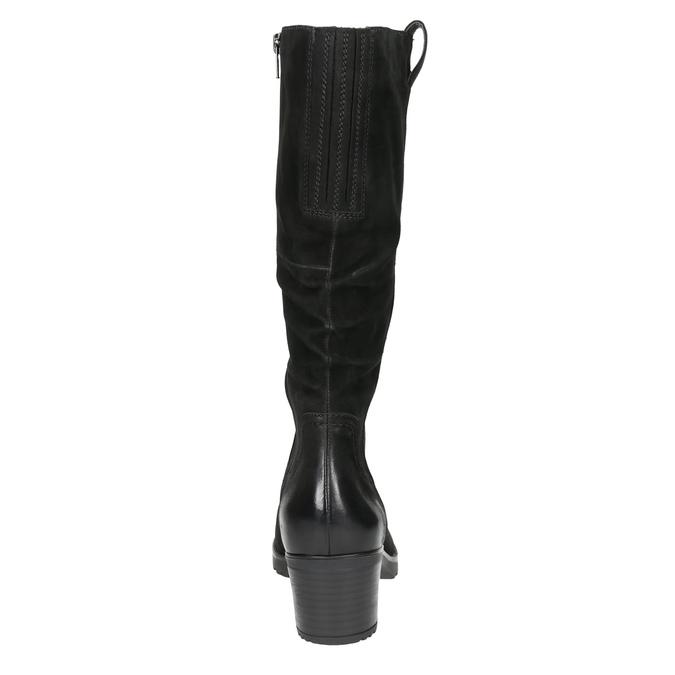 Ladies' Leather High Boots bata, black , 696-6649 - 17