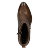 High ankle boots with stable heel bata, brown , 696-4654 - 15