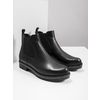 Ladies' leather Chelsea boots with massive sole bata, black , 596-6677 - 18