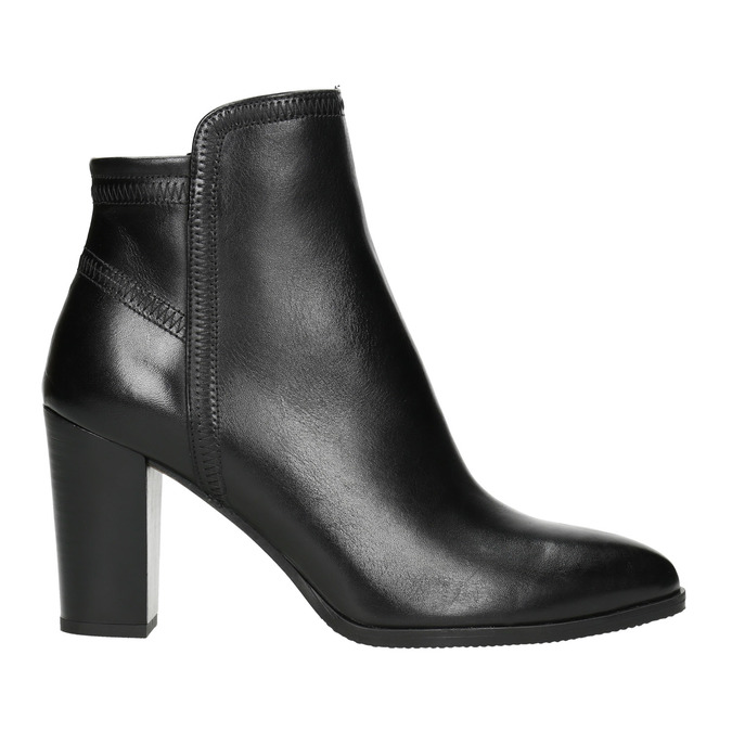 Ladies' Leather Ankle Boots bata, black , 794-6650 - 15