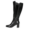 High Boots with a Sturdy Heel bata, black , 694-6638 - 26