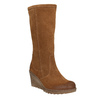 Brown Leather High Boots bata, brown , 793-4607 - 13