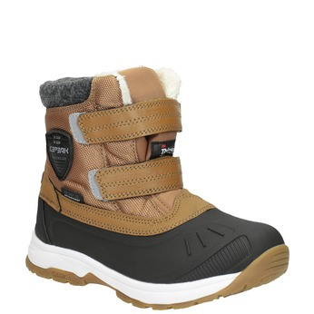 Children's winter boots with Velcro, brown , 399-3018 - 13