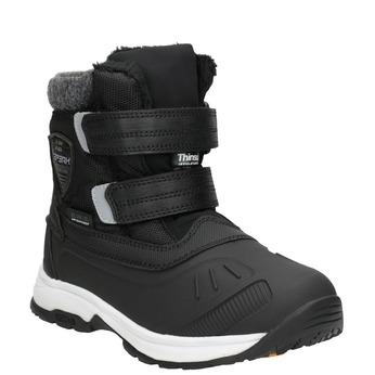 Children's winter boots with Velcro, black , 399-6018 - 13