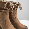 Brown heeled high boots bata, brown , 799-3613 - 14