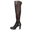 Ladies' heeled leather high boots bata, brown , 796-2651 - 15