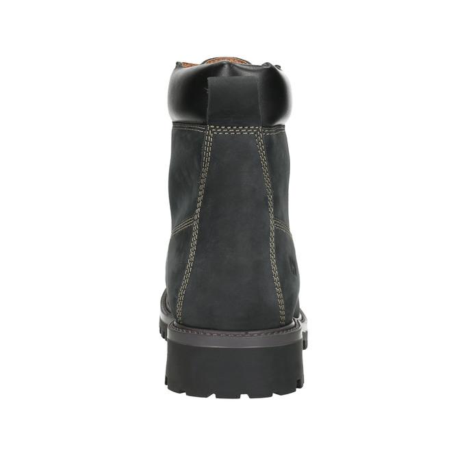 Men's leather winter boots weinbrenner, black , 896-6656 - 17