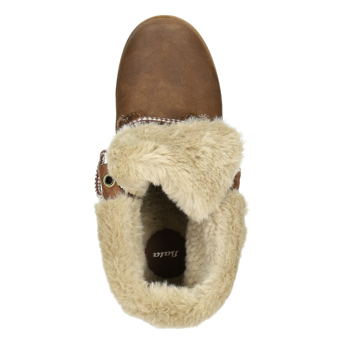Ankle Boots with Fleece bata, brown , 591-4618 - 26