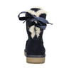 Ladies' Casual Leather Boots bata, blue , 593-9604 - 17