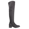 Ladies' leather high boots bata, gray , 693-2604 - 26