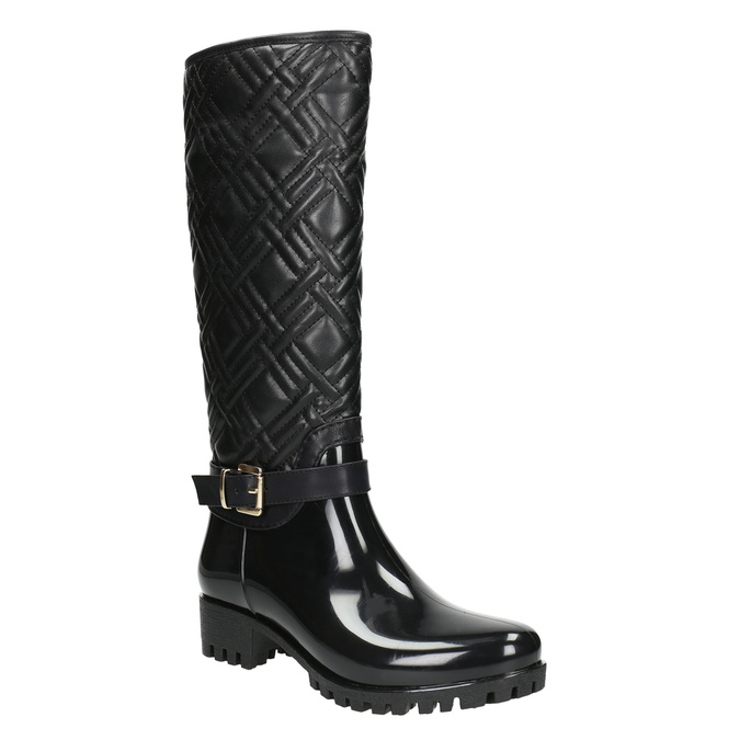 Ladies' Wellington Boots with Quilting bata, black , 592-6401 - 13