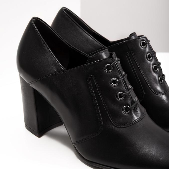 Ladies' pumps with stable heel hogl, black , 724-6055 - 14