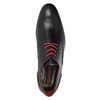 Leather shoes with red details conhpol, black , 824-6993 - 15