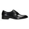 Textured leather Oxford shoes conhpol, black , 824-6989 - 26