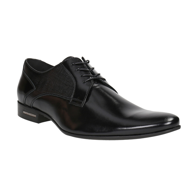 Men's leather shoes conhpol, black , 824-6994 - 13