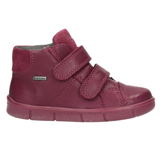 Children's leather ankle boots, red , 124-5037 - 26