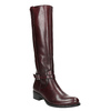 Leather High Boots with Buckle bata, red , 596-5665 - 13