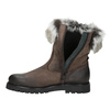 Leather ladies' boots with fur bata, brown , 594-4657 - 15