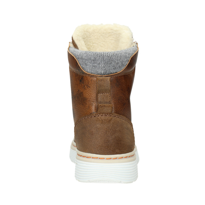 Ladies' leather winter boots bata, brown , 596-4684 - 16