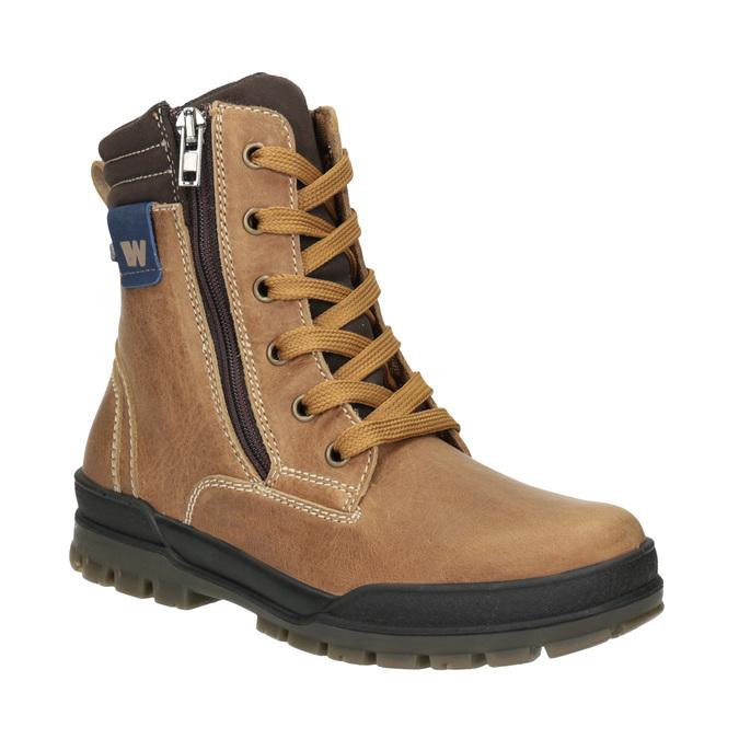 Children's Winter Ankle Boots weinbrenner-junior, brown , 496-8611 - 13