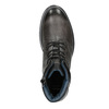 Men's Leather Ankle Boots bata, gray , 896-2682 - 15