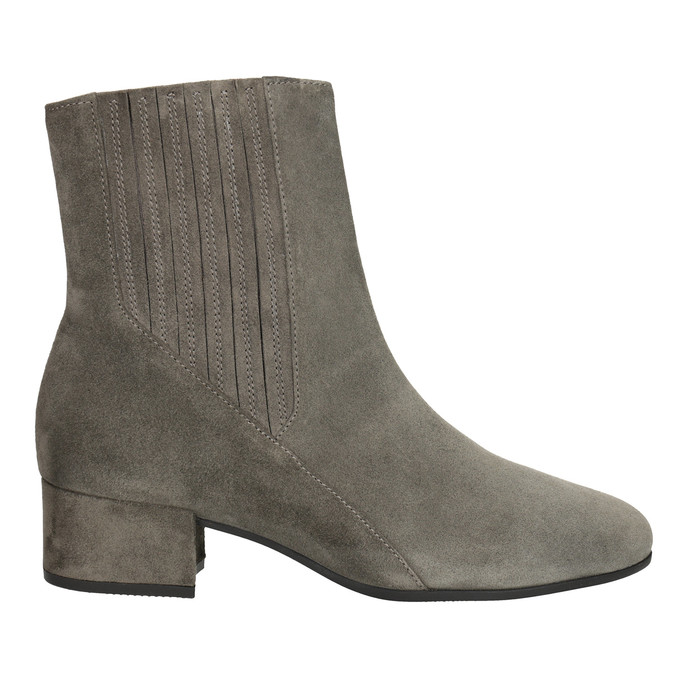 Brushed leather high ankle boots gabor, gray , 613-2022 - 26