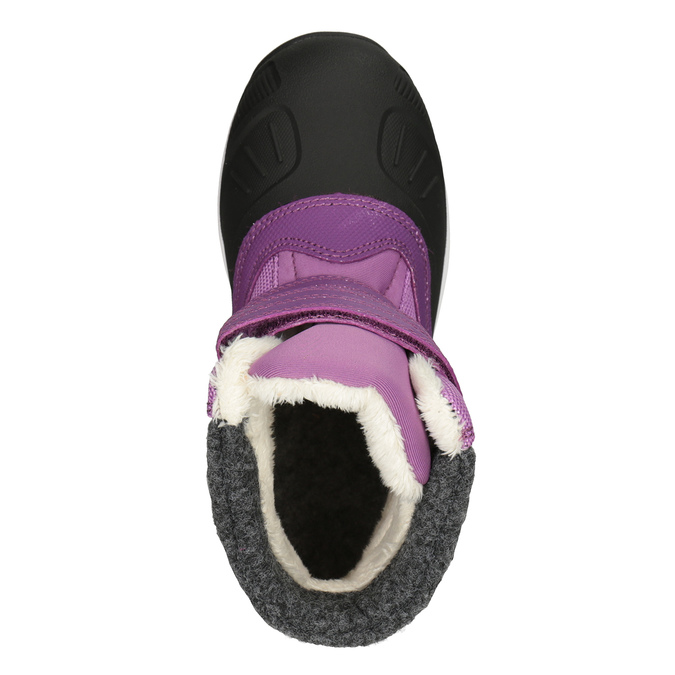 Girls' purple snow boots, violet , 399-5018 - 15