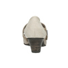 Leather pumps width H bata, gray , 623-2600 - 16