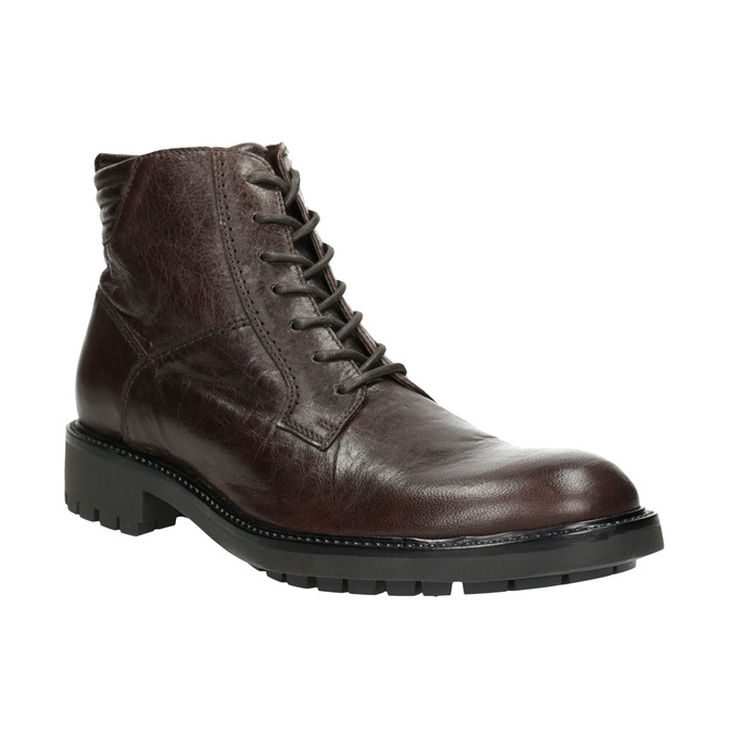 Leather Ankle Boots bata, brown , 894-4694 - 13