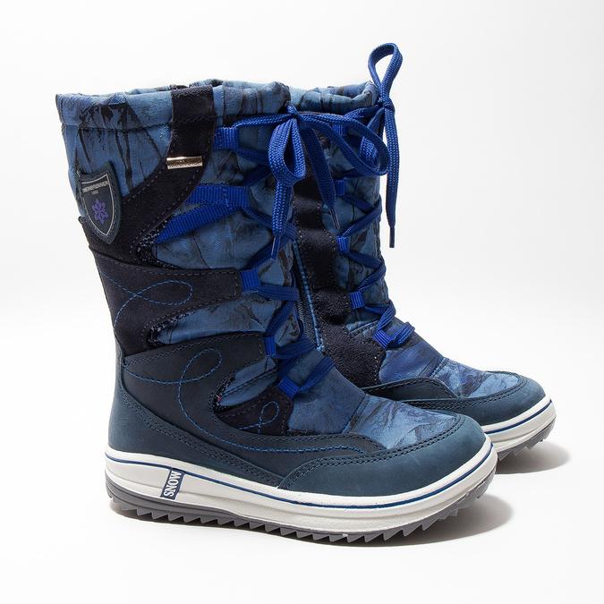 Children's Snow Boots weinbrenner-junior, blue , 393-9607 - 26