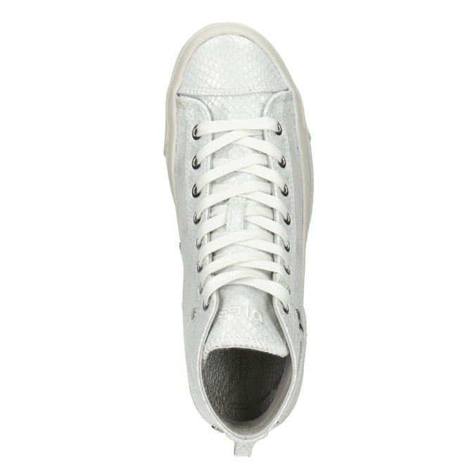 White ankle sneakers diesel, white , 501-6743 - 17