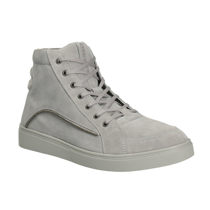 Men's leather ankle boots diesel, gray , 803-2629 - 13