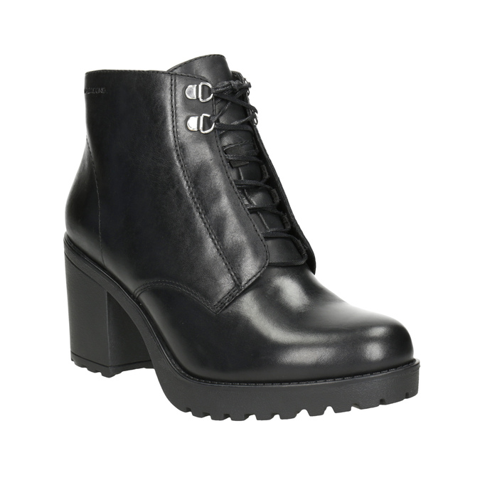 Leather high ankle boots vagabond, black , 724-6043 - 13