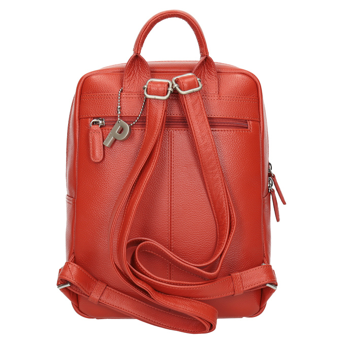 Red leather backpack picard, red , 964-4045 - 16