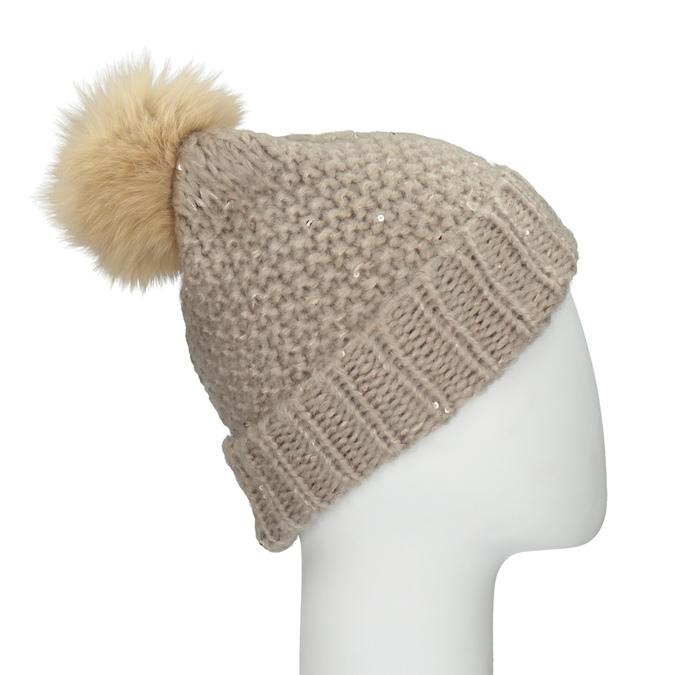Furry Pompom Hat bata, multicolor, 909-0152 - 17