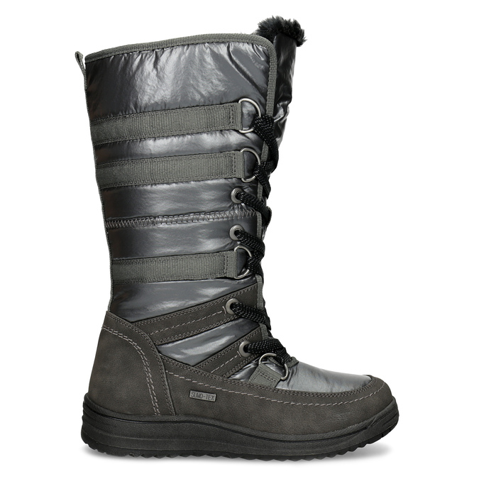 Ladies' winter snow boots bata, gray , 599-2619 - 19